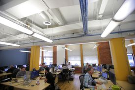 About 80 of Aereo's 115 employees work in South Boston's Fort Point neighborhood; the startup has raised nearly $100 million.