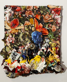 """At Gallery NAGA, Gerry Bergstein's mixed media works """"Theory and Practice."""""""