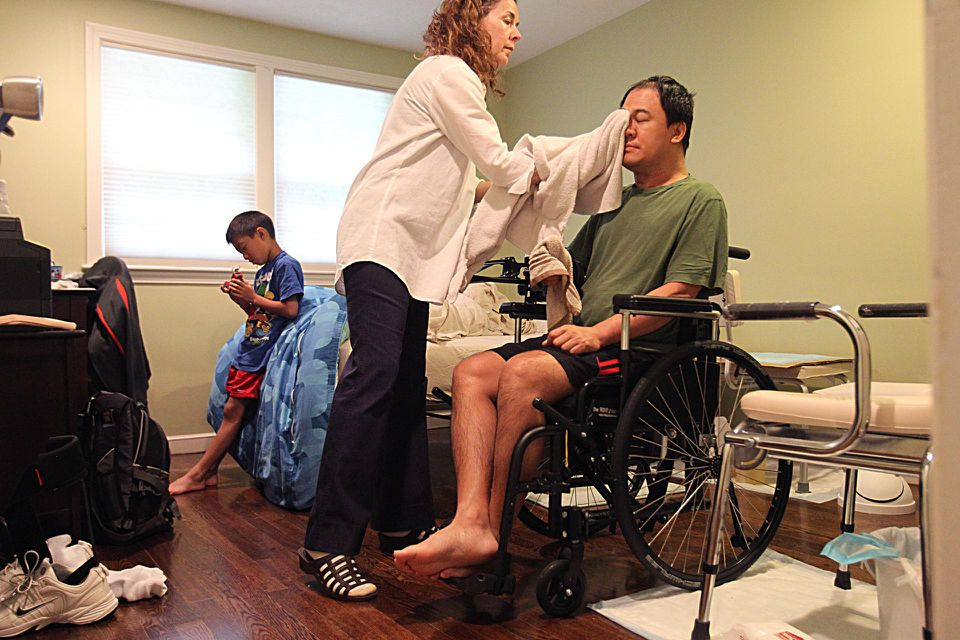 Tony Meng, of Westwood, now needs a home health aide for basic tasks.