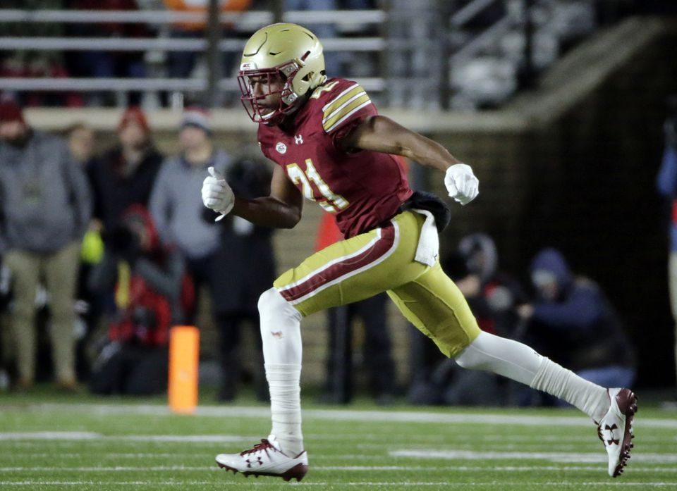 BC safety Lukas Denis was a Walter Camp All-American in 2017.