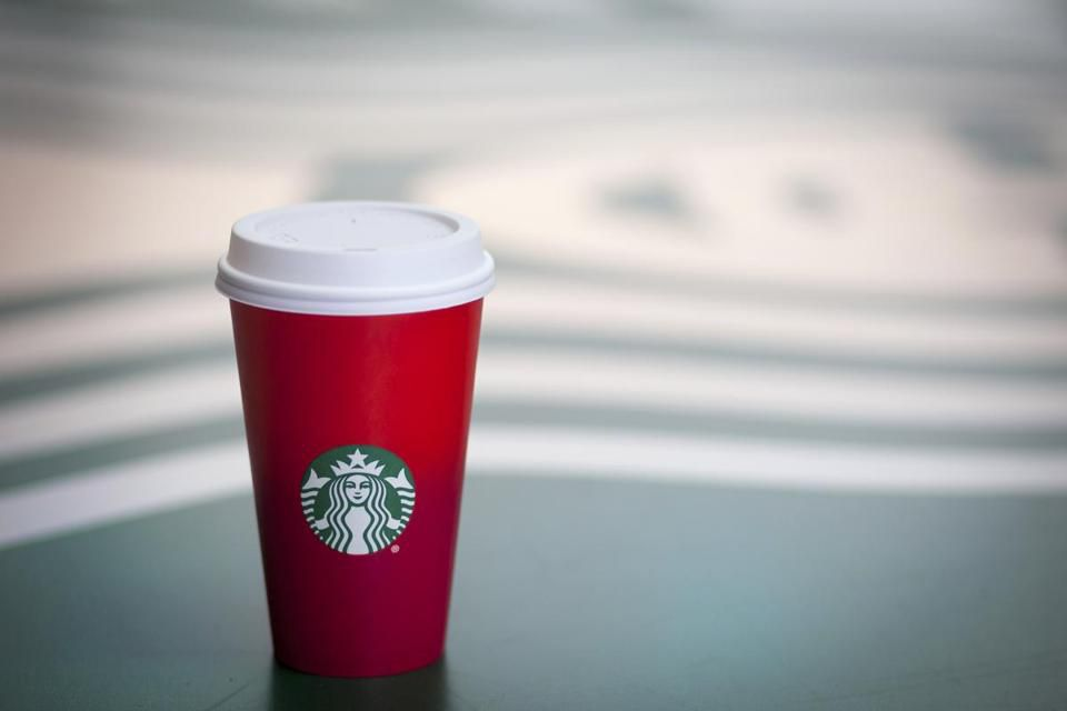 """Starbucks has touted their new holiday cup design as a """"canvas with which to create your own story."""""""